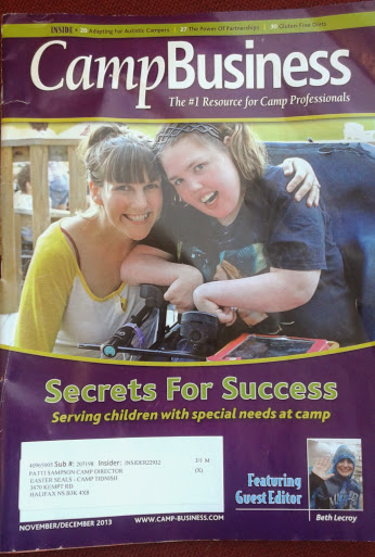 """On the cover of the Rolling Stone…"" That is how this felt!! haha My friend Kayla and I on the cover of Camp Business Magazine"