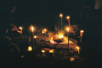 fire-and-candles-at-camp